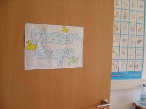 Eingang Unterrichtsraum der Wassergruppe