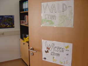 Eingang Unterrichtsraum der Wiesen-u. Waldgruppe